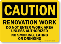 Do Not Enter Work Area OSHA Caution Sign