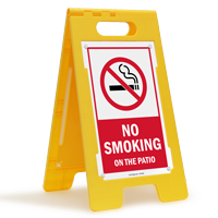 No Smoking On the Patio FloorBoss Free-Standing Sign