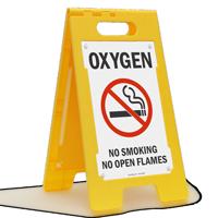 Oxygen No Smoking Standing Floor Sign