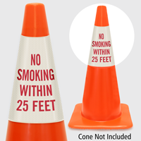 No Smoking Within 25 Feet Cone Collar