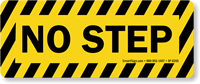 No Step With Thin Stripes Floor Safety Sign