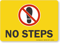 No Steps Floor Safety Sign
