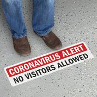 No Visitors Allowed Floor Medical Safety Sign