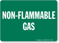 Non Flammable Gas Sign