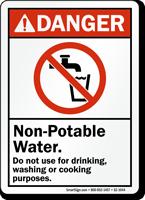 Non Potable Water Danger Sign