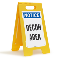 Notice Decon Area Floor Sign