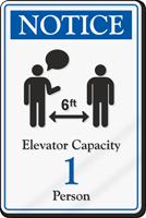 Notice Elevator Capacity ShowCase Sign