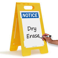Notice FloorBoss XL™ Free-Standing Sign