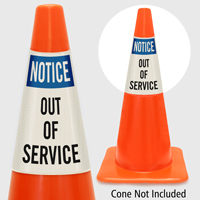 Notice Out Of Service Cone Collar