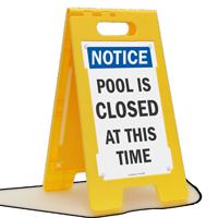 Notice Pool Is Closed Floor Sign