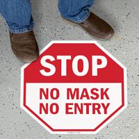 Stop - No Mask, No Entry