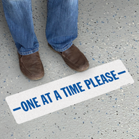 One At A Time Please SlipSafe Floor Sign