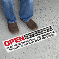 Open This Business Deemed Essential SlipSafe Floor Sign
