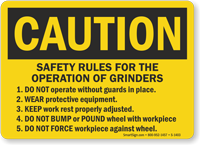 OSHA Caution Safety Rules For Operations Sign