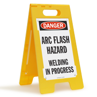 OSHA Danger Arc Flash Hazard Welding Standing Floor Sign