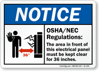 Osha Nec Regulations Notice Sign