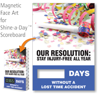 Our Resolution Stay Injury-Free All Year Scoreboard Face