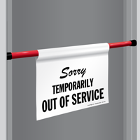 Out Of Service Door Barricade Sign
