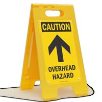 Caution Overhead Hazard Standing Floor Sign