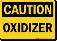 Oxidizer OSHA Caution Sign
