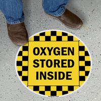 Oxygen Stored Inside SlipSafe Floor Sign