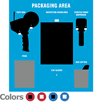 Packaging Area Shadow Board Kit