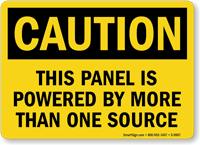 Panel Powered By More Than One Source Sign