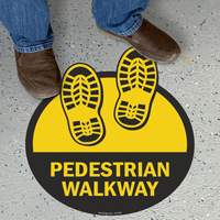 Pedestrian Walkway with Shoeprints