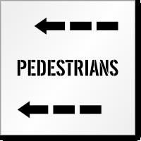 Pedestrians Pavement Stencil