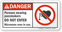 Persons Wearing Pacemakers Do Not Enter Danger Sign