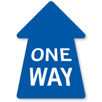 Perspective Straight One-Way Arrow