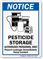 Pesticide Storage Authorized Personnel Only Sign