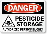 Pesticide Storage Authorized Personnel Only Sign Sku S
