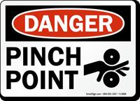 Danger Pinch Point Sign