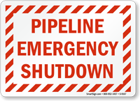 Pipeline Emergency Shutdown Sign
