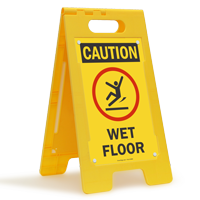 Caution Wet Floor W/Graphic Fold-Ups® Floor Sign