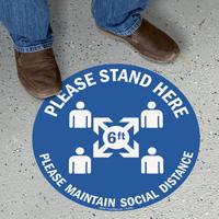 Please Maintain Social Distance SlipSafe Floor Sign