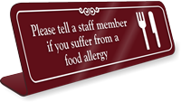 Please Tell Staff Member ShowCase Desk Sign