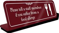 Please Tell Staff Member ShowCase Desk Sign