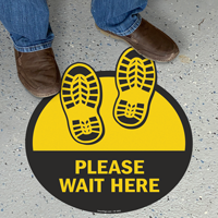 Please Wait Here with Shoeprints