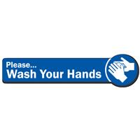 Please Wash Your Hands SlipSafe Floor Sign
