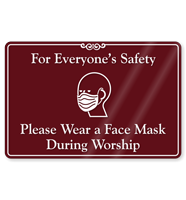 Please Wear A Face Mask During Worship ShowCase Sign