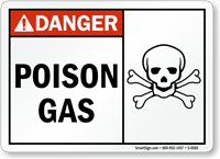 Danger Poison Gas Sign