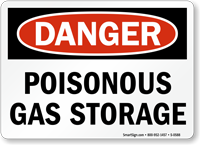 Danger: Poisonous Gas Storage