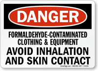 Danger Formaldehyde Irritant Hazard Sign