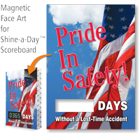Pride In Safety Changeable Scoreboard Magnetic Face