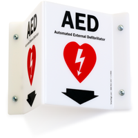AED Automated External Defibrillator Sign