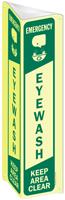 Projecting Emergency Eye Wash Keep Clear Sign