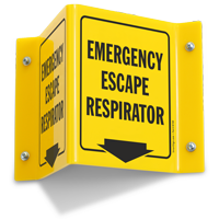 Emergency Escape Respirator (with arrow)
