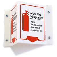 To Use Fire Extinguisher … Sign